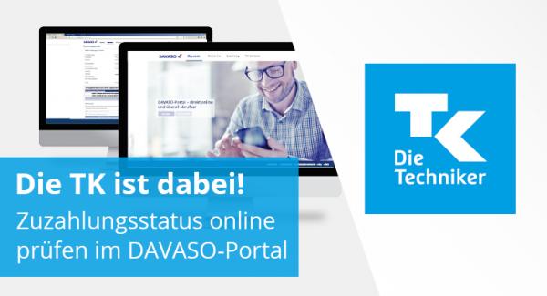 Techniker Krankenkasse im DAVASO-Portal