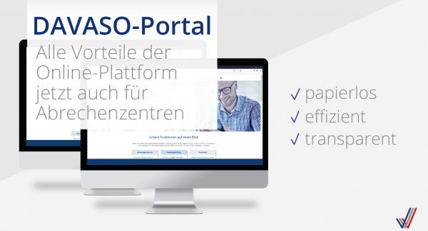 DAVASO-Portal Abrechner jetzt freigeschaltet